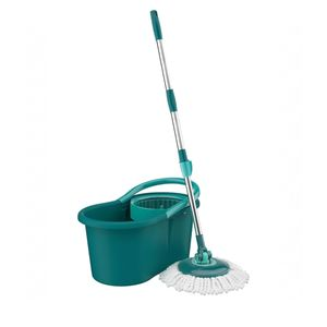 Balde-com-mop-giratorio-Flash-Limp-verde-esmeralda