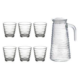 Jogo-de-jarras-com-copos-Lyor-Colmeia-7-pecas-branca