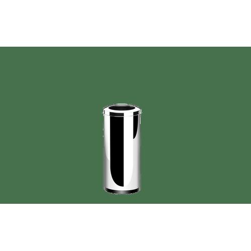 Lixeira-Inox-com-Aro-2817-Litros---Decorline-Lixeiras-Ø-25-x-60-cm