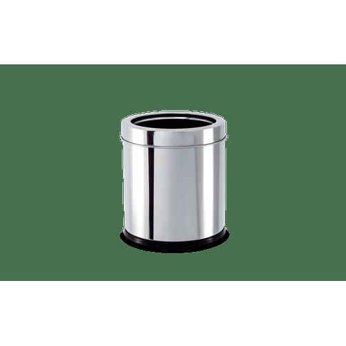 Lixeira-Inox-com-Aro-32-Litros---Decorline-Lixeiras-Ø-155-x-17-cm
