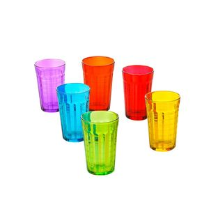 Jogo-de-copos-em-vidro-Lyor-Xadrez-colorido-325ml-6-pecas-6358