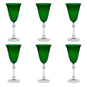 Jogo-de-tacas-para-vinho-Bohemia-250ml-6-pecas-verde