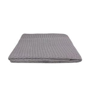 Manta-Tribus-tricot-lisa-160x120cm-cinza