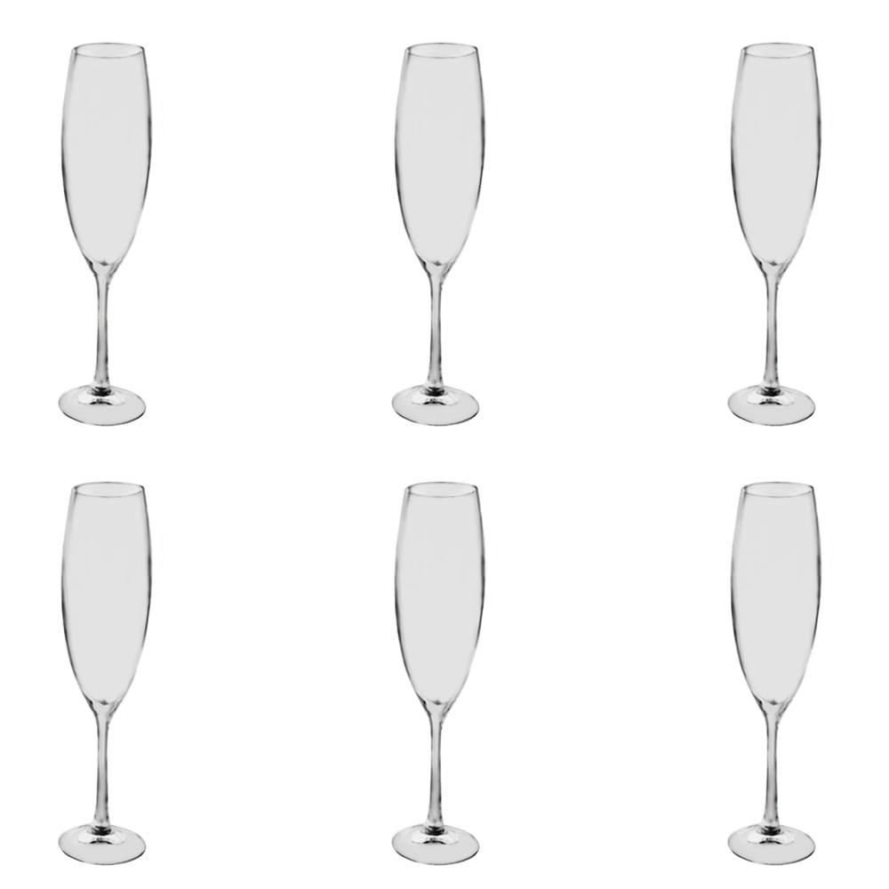 Jogo de taças para champanhe Bohemia shophia 6 peças 230ml