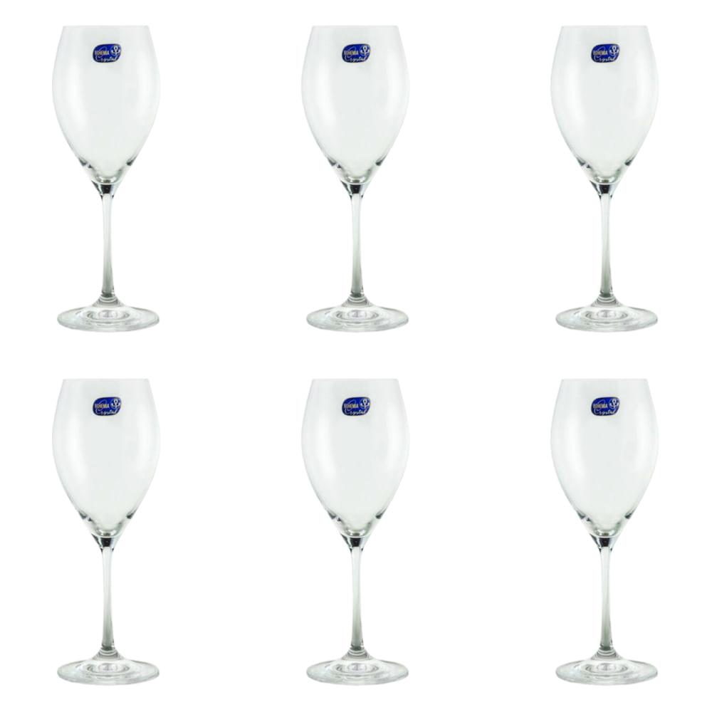 Jogo de taças para vinho branco Bohemia sophia 6 peças 390ml