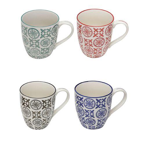 Jogo-de-canecas-em-porcelana-Lyor-Royal-4-pecas-300ml-colorida