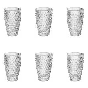 Jogo-de-copos-altos-de-vidro-Lyor-Buble-6-pecas-320ml-incolor