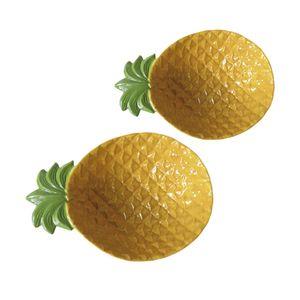 Jogo-de-bowls-em-ceramica-Urban-Pineaple-Abacaxi-2-pecas-amarelo