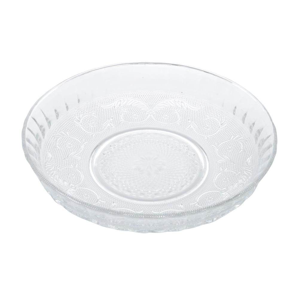 Prato para bolo em vidro Lyor angel 29,8x6cm