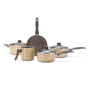Jogo-de-panelas-Brinox-Ceramic-Life-Smart-5-pecas-mostarda