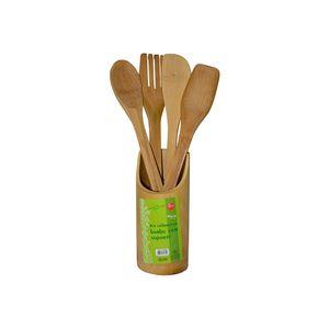 Jogo-de-utensilios-para-cozinha-em-bambu-Wincy-5-pecas