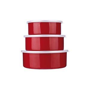 Jogo-de-potes-esmaltado-Euro-Aghata-Colors-3-pecas-vermelho