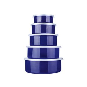 Jogo-de-potes-esmaltado-Euro-Aghata-Colors-5-pecas-azul