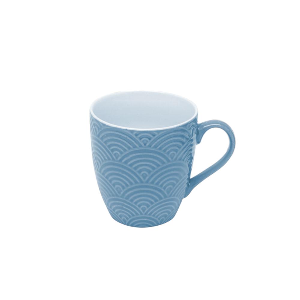 Caneca em porcelana Lyor ipanema 175ml azul