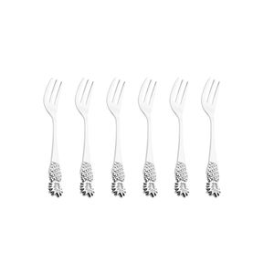 Jogo-de-garfos-para-sobremesa-em-zamac-Lyor-Pineapple-6-pecas