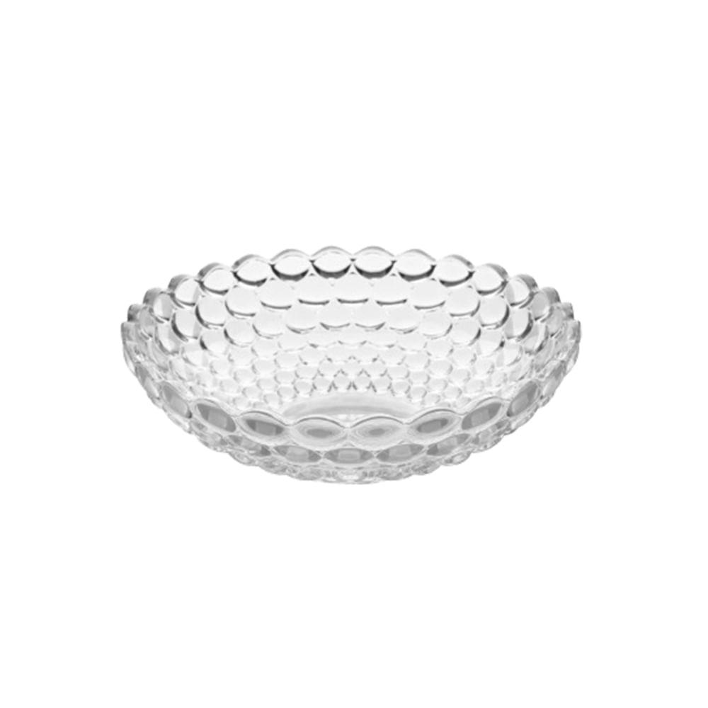 Centro de mesa raso em vidro bella vita bubbles 30cm