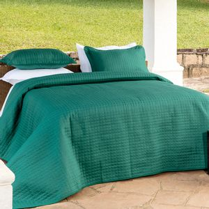 Colcha-dupla-face-com-porta-travesseiros-Kacyumara-Bouti-solteiro-green