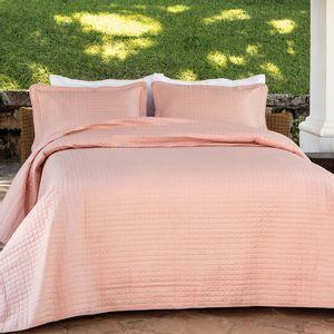 Colcha-dupla-face-com-porta-travesseiros-Kacyumara-Bouti-casal-rose