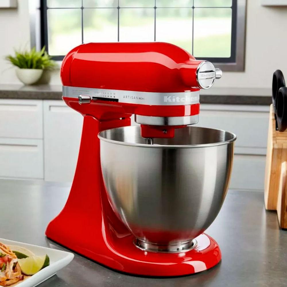 Batedeira Stand Mixer KitchenAid Artisan Mini Hot Sauce 220v vermelha