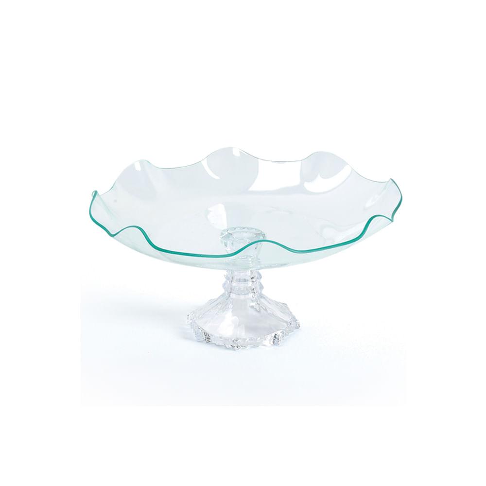 Fruteira em vidro com pé Decorglass 25x12cm incolor