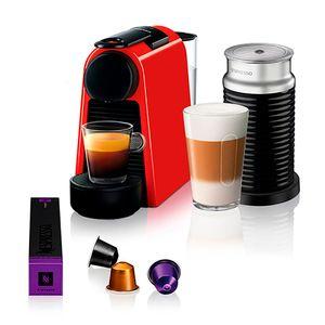 Cafeteira-com-aeroccino-Nespresso-Essenza-Mini-red-220v