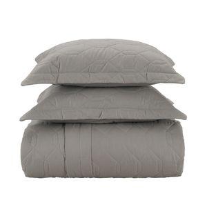 Colcha-com-porta-travesseiro-Karsten-Liss-king-cinza