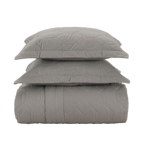 Colcha-com-porta-travesseiro-Karsten-Liss-queen-cinza