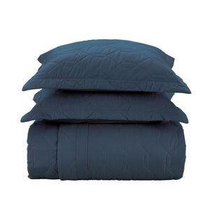 Colcha-com-porta-travesseiro-Karsten-Liss-queen-marinho
