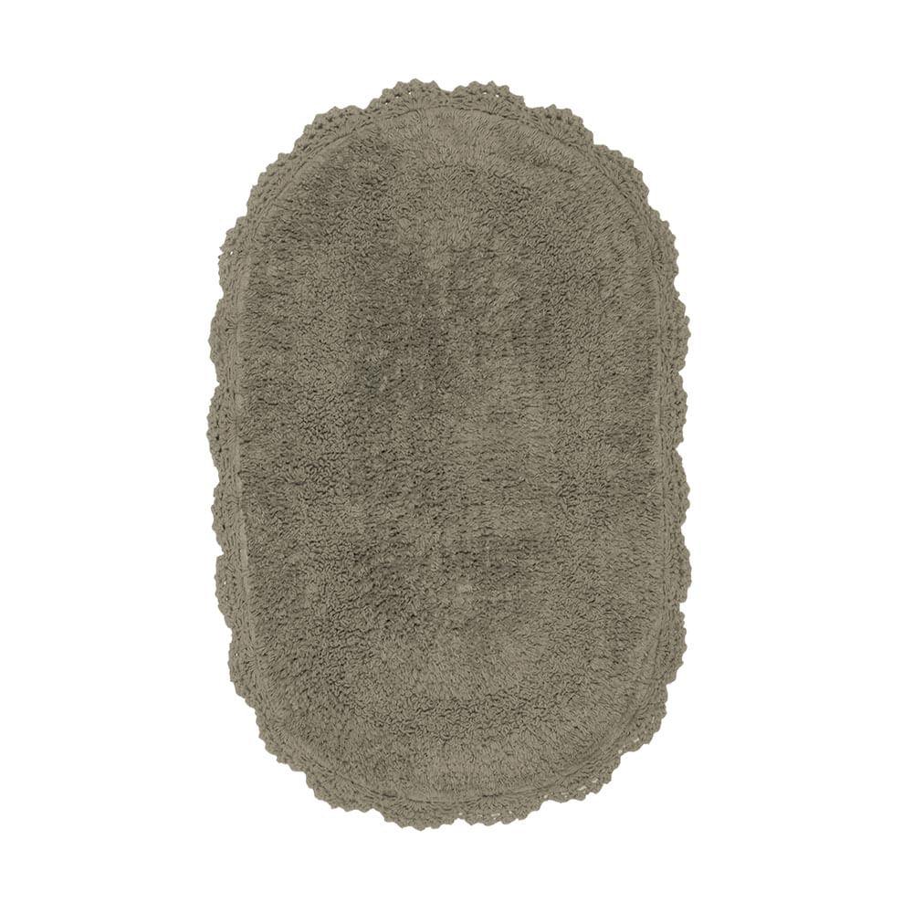 Tapete oval dupla face Kacyumara Crochê Art 40x60cm skin