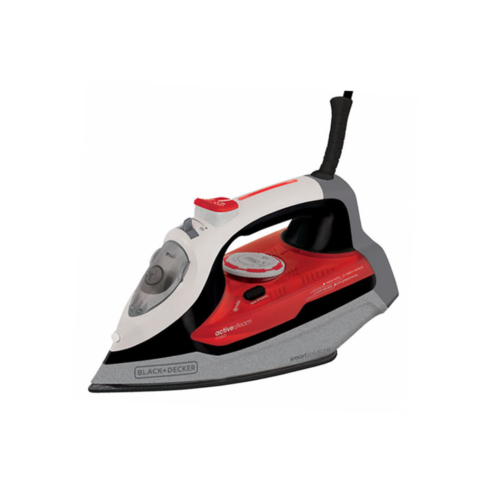 Ferro a vapor com base antiaderente Black Decker Ceramic Spray 220v vermelho