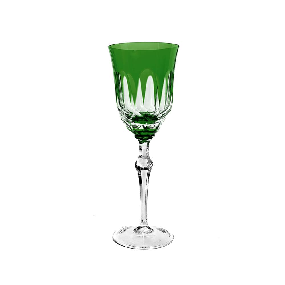 Taça água em cristal Strauss Overlay 237.055 460ml verde claro