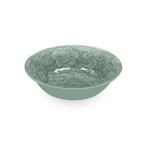 Vasilha-em-melamina-Tarhong-Ming-Floral-192cm-verde