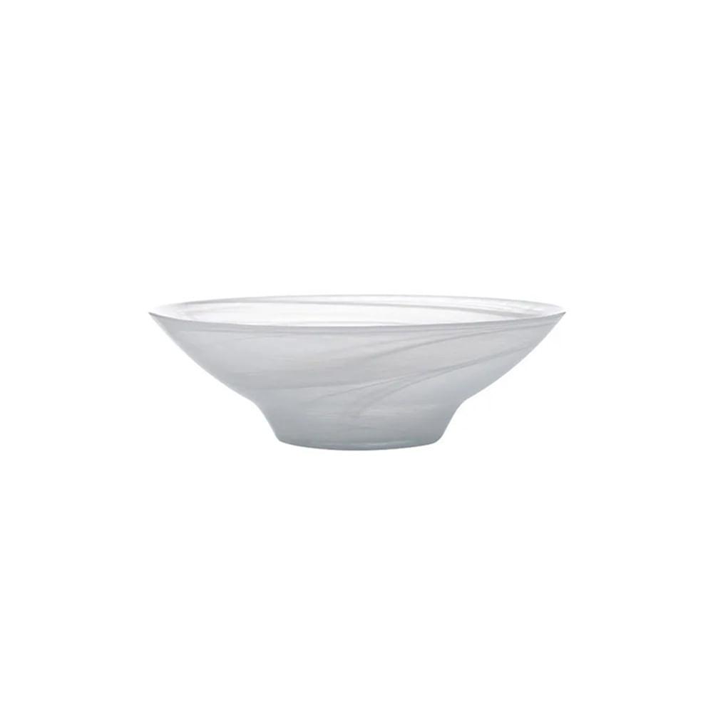 Tigela em vidro Luminarc Marblesque 13cm branca