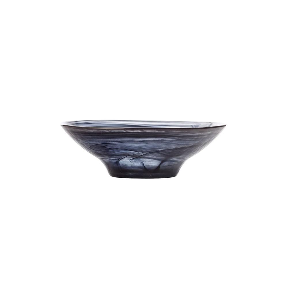 Tigela em vidro Luminarc Marblesque 13cm preta