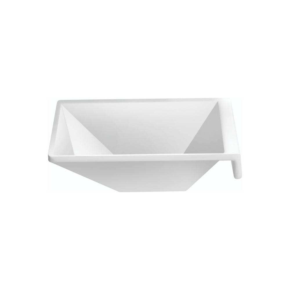 Porta-molho em melamina Marcamix Diamond 8,8x8,8cm branco