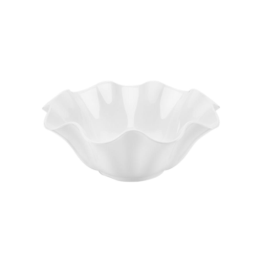 Saladeira em melamina Haus Flower 3 litros branca