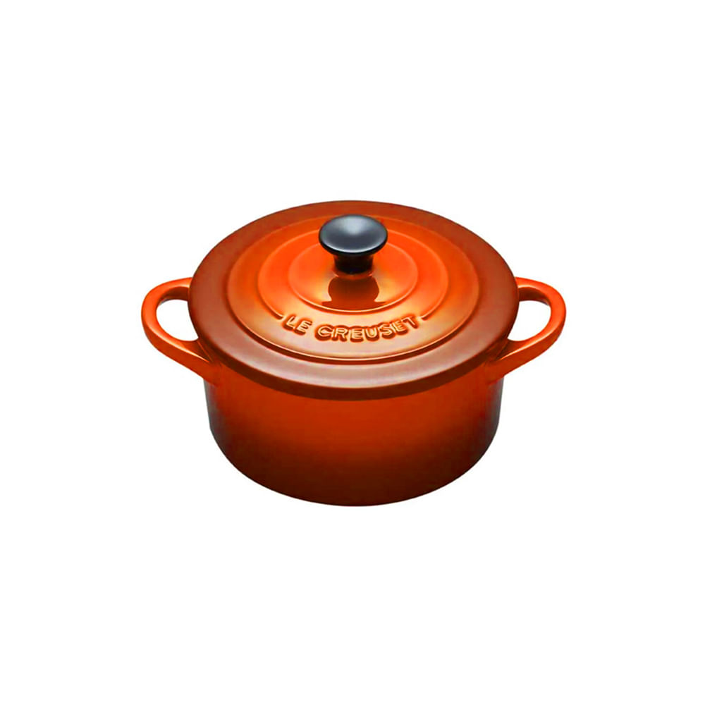 Mini caçarola em cerâmica Le Creuset 14X10,6X8,2cm laranja