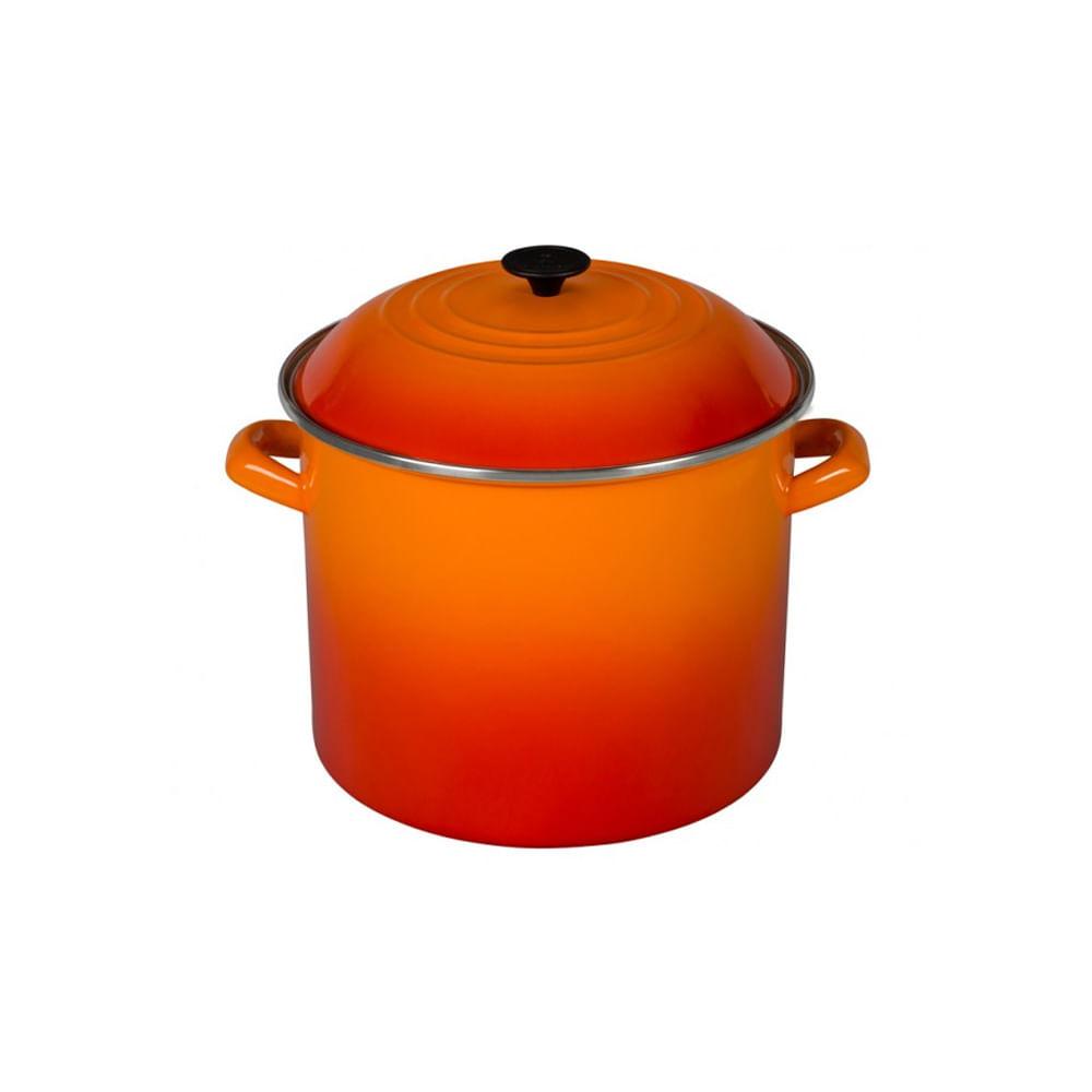 Caldeirão em aço esmaltado Stock Pot Le Creuset 26cm laranja