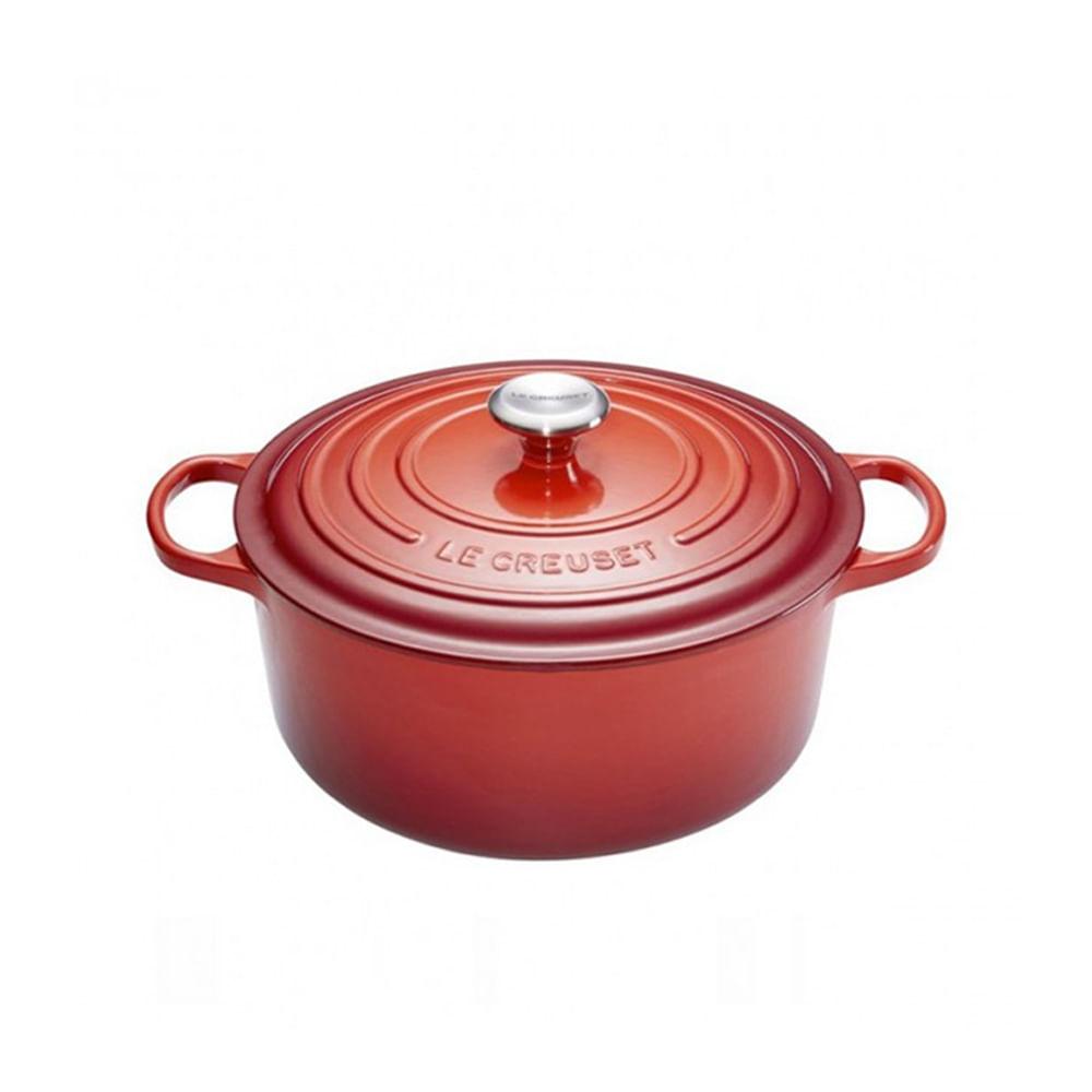 Panela redonda em ferro Le Creuset Signature 34cm vermelha