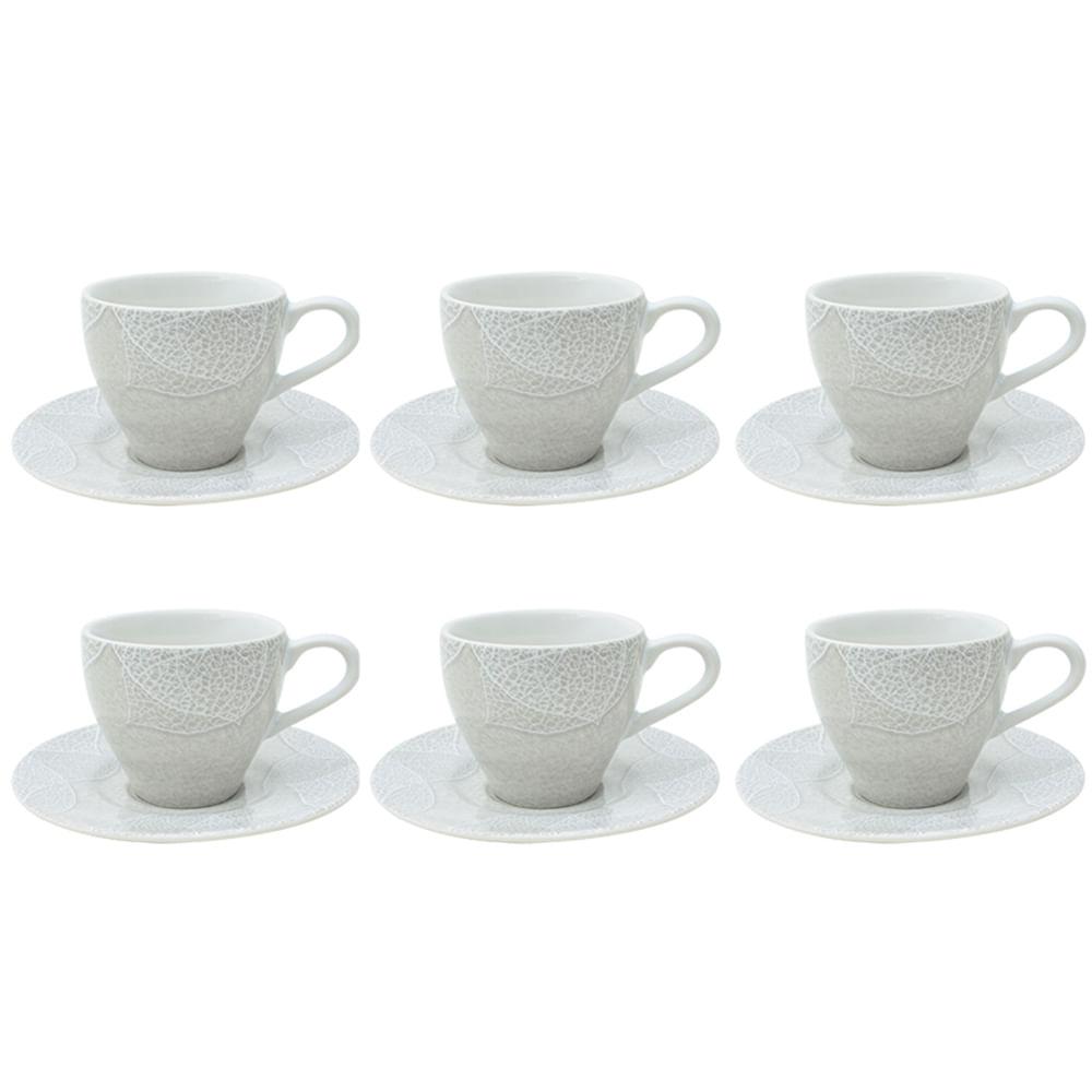 Jogo para chá em porcelana L'hermitage Baoba 12 peças