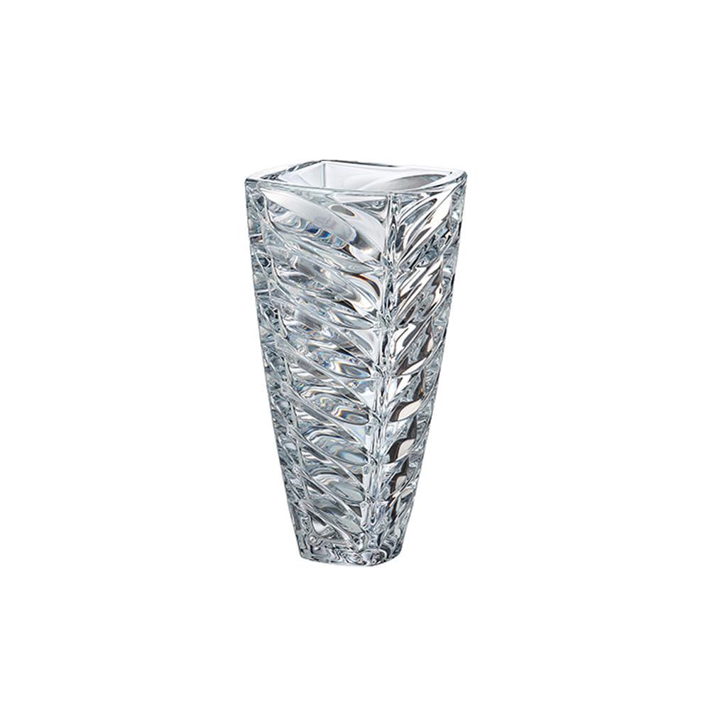 Vaso em cristal Bohemia Facet 15,2x30,5cm incolor