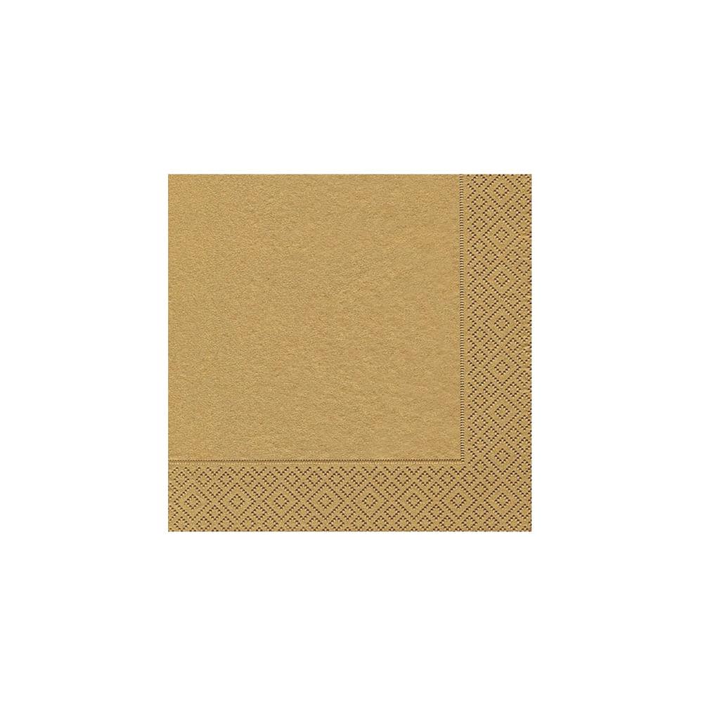 Pacote de guardanapos Paper Design Uni 20 unidades gold