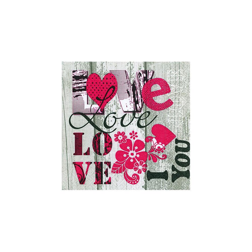 Pacote de guardanapos Paper Design I Love You 20 unidades
