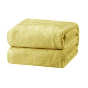 Cobertor-Andreza-Fleece-casal-amarelo