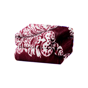 Cobertor-em-microfibra-Andreza-Fleece-casal-180mx240m-Floral-Marsala