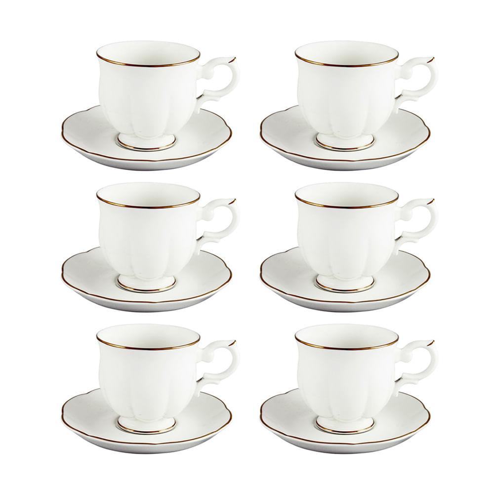 Jogo xícaras de café Royal Bone Windsor 100ml 6 peças
