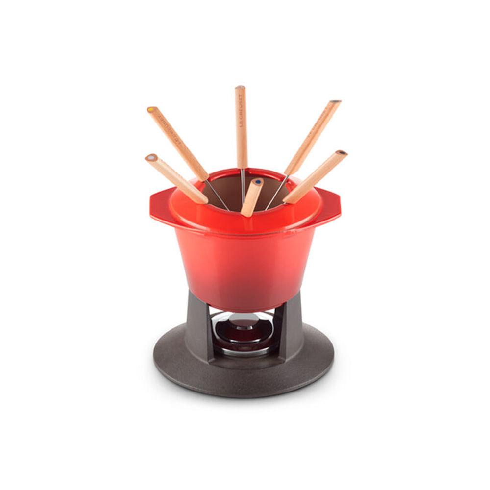 Fondue em ferro fundido Le Creuset Gourmand 1,6L vermelho