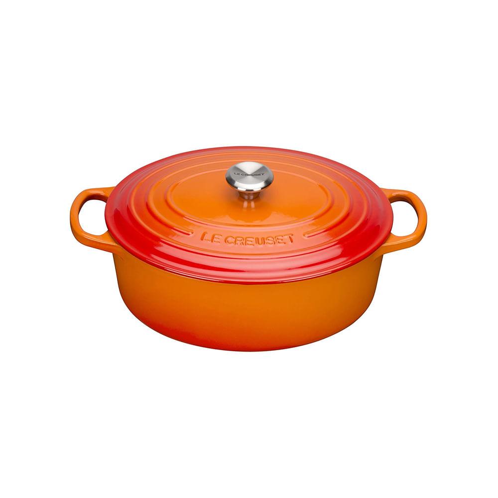 Panela oval ferro fundido Le Creuset Signature 27cm laranja