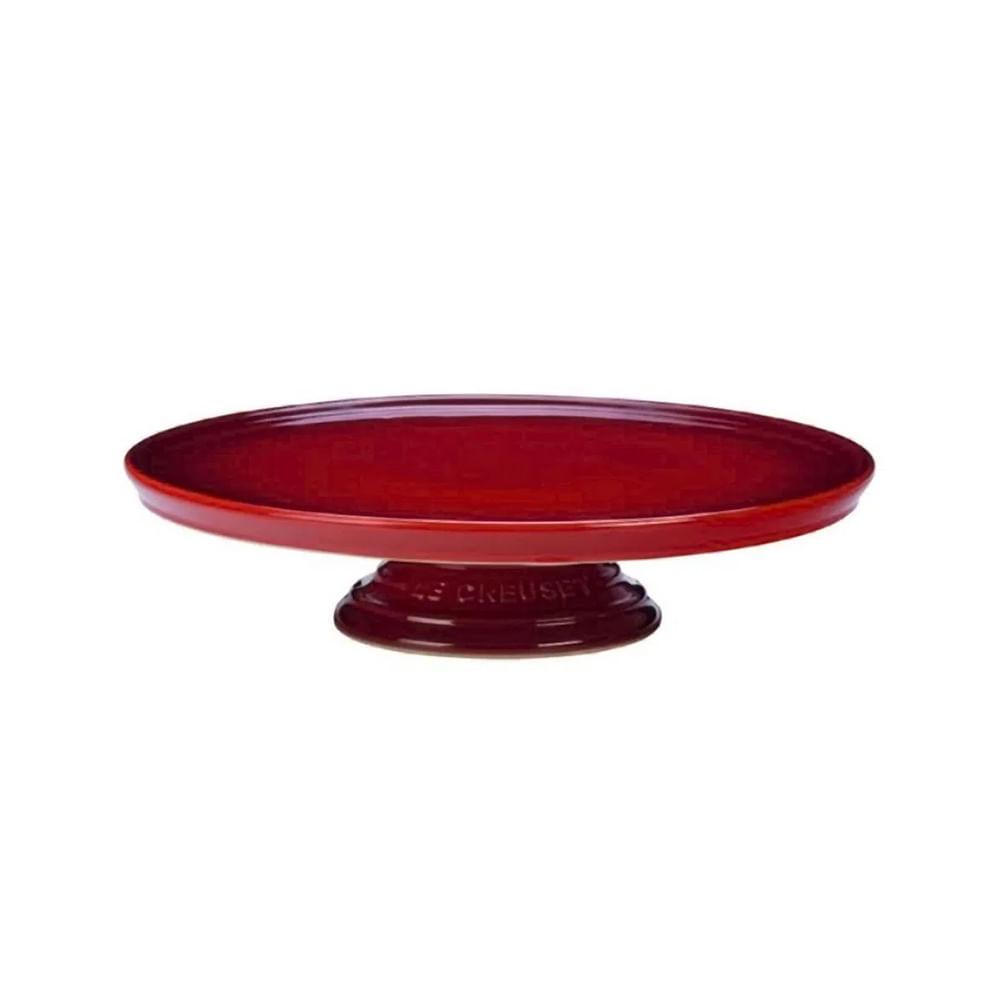 Suporte para bolo em cerâmica Le Creuset 30,5cm vermelho