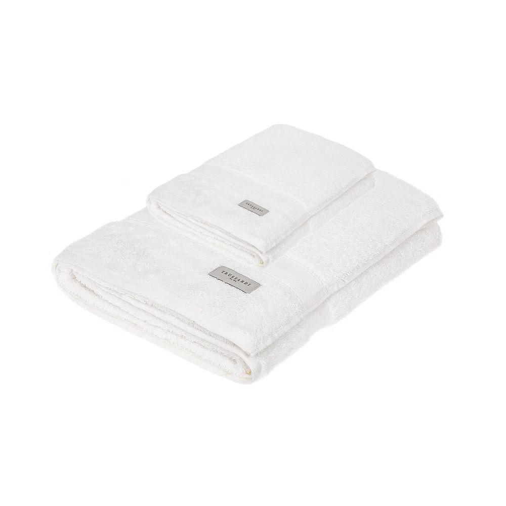 Jogo de banho e rosto Trussardi Egitto Elegance 2 peças branco